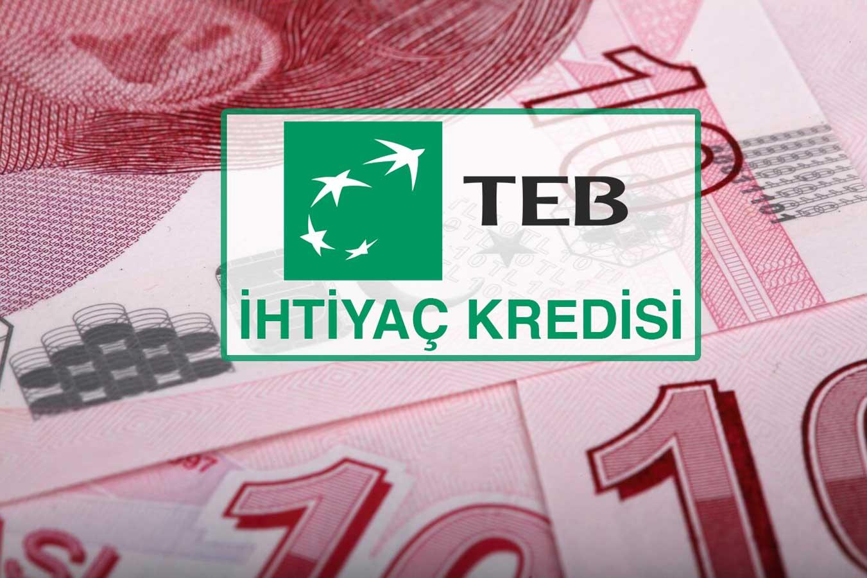 TEB'den Günde 14 TL'ye 10.000 Lira Kredi