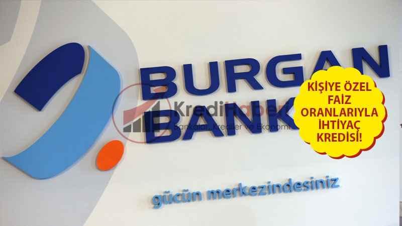 Burganbank Kişiye Özel İhtiyaç Kredisi